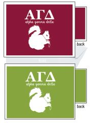 Alpha Gamma Delta Letter Notecards