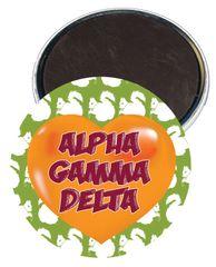 Alpha Gamma Delta Heart Magnet