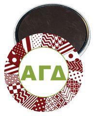 Alpha Gamma Delta Letters Magnet