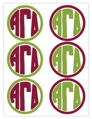 Alpha Gamma Delta Monogram Sticker Sheet