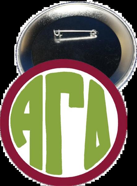Alpha Gamma Delta Monogram Red Button