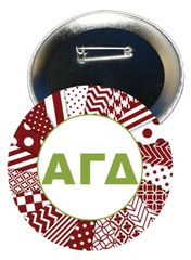 Alpha Gamma Delta Letters Button