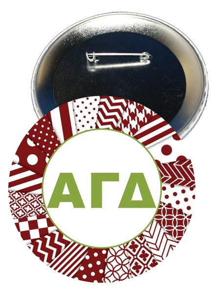 Alpha Gamma Delta Letters Button