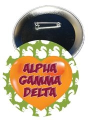 Alpha Gamma Delta Heart Button