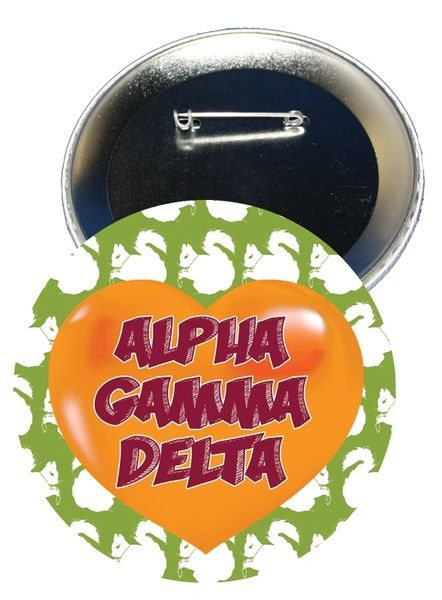 Alpha Gamma Delta Heart Button