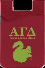Alpha Gamma Delta Logo Cell Phone Pocket