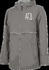 Alpha Gamma Delta Letters Rain Jacket