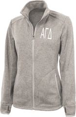Alpha Gamma Delta Letters Heathered Fleece Jacket
