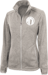 Alpha Gamma Delta Monogram Heathered Fleece Jacket