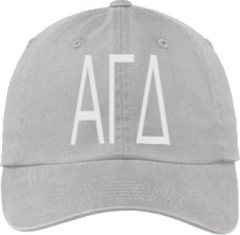 Alpha Gamma Delta Gray Ball Cap