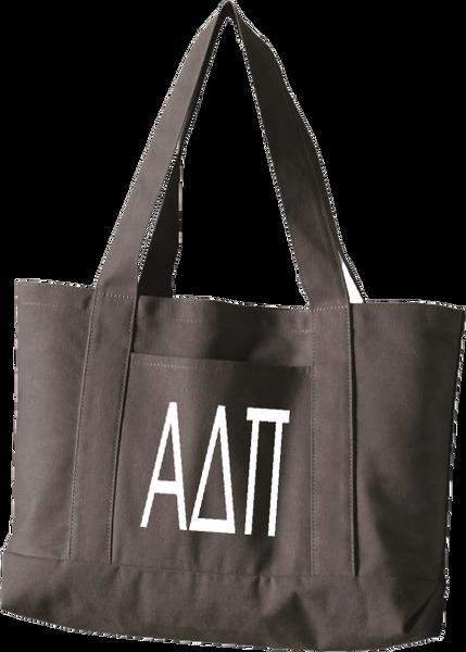 Alpha Delta Pi Letters Canvas Tote Bag