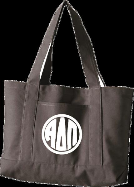 Alpha Delta Pi Monogram Canvas Tote Bag