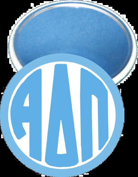 Alpha Delta Pi Monogram Blue Mirror
