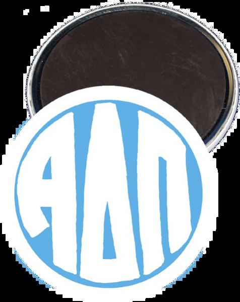 Alpha Delta Pi Monogram White Magnet