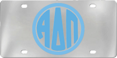 Alpha Delta Pi Aluminum Monogram License Plate