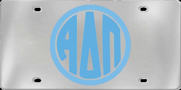 Alpha Delta Pi Aluminum Monogram License Plate