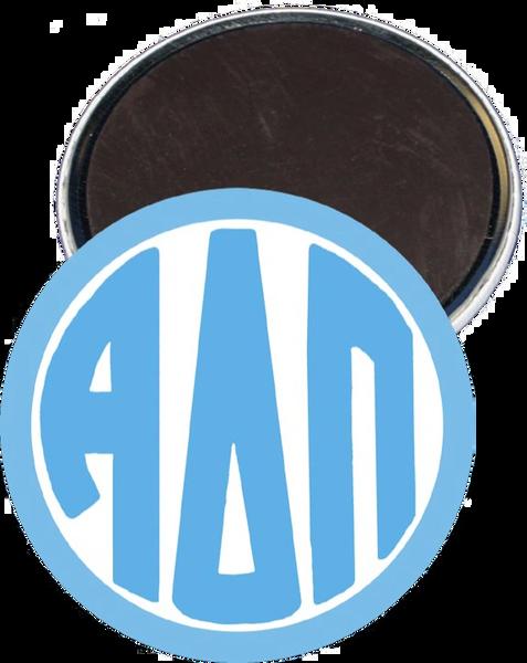 Alpha Delta Pi Monogram Blue Magnet