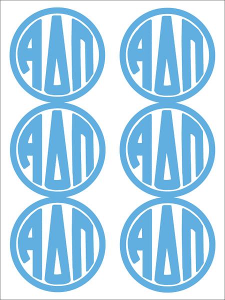 Alpha Delta Pi Monogram Sticker Sheet