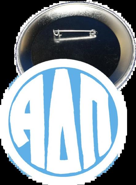Alpha Delta Pi Monogram White Button