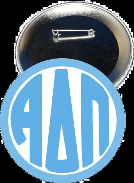 Alpha Delta Pi Monogram Blue Button