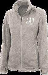 Alpha Delta Pi Letters Heathered Fleece Jacket