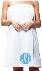 Alpha Delta Pi Monogram Towel Wrap
