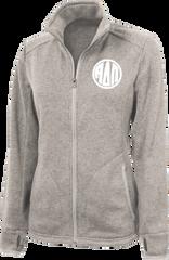 Alpha Delta Pi Monogram Heathered Fleece Jacket