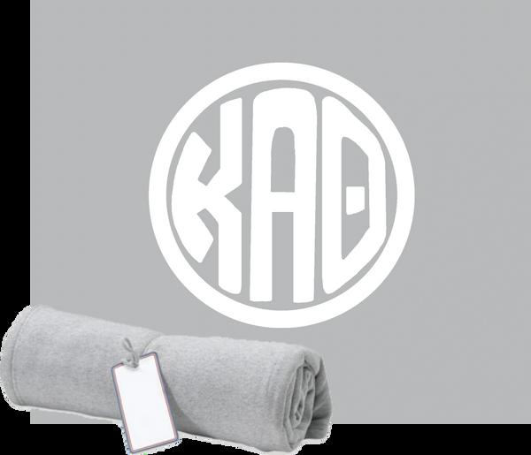 Kappa Alpha Theta Monogram Sweatshirt Blanket