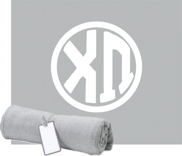 Chi Omega Monogram Sweatshirt Blanket