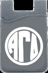 Alpha Gamma Delta Monogram Cell Phone Pocket