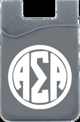 Alpha Sigma Alpha Monogram Cell Phone Pocket