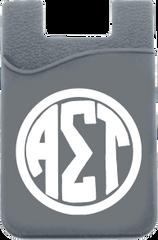 Alpha Sigma Tau Monogram Cell Phone Pocket