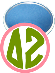 Delta Zeta Monogram Pink Mirror