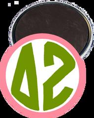Delta Zeta Monogram Pink Magnet