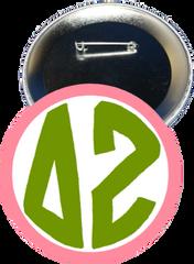 Delta Zeta Monogram Pink Button