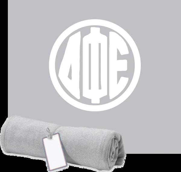 Delta Phi Epsilon Monogram Sweatshirt Blanket
