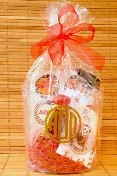 Alpha Omicron Pi Gift Bucket