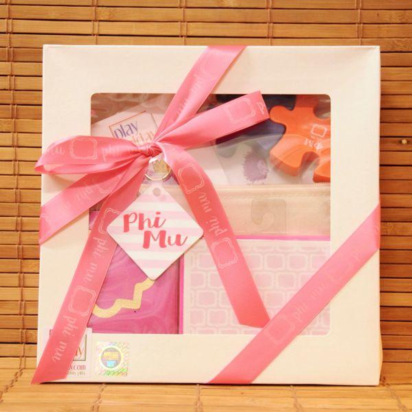 Phi Mu Large Gift Box