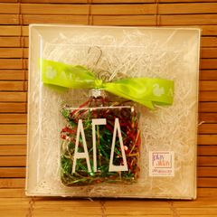 Alpha Gamma Delta Glass Ornament