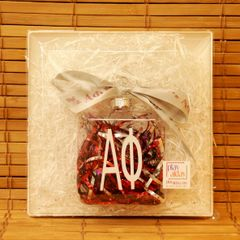 Alpha Phi Glass Ornament