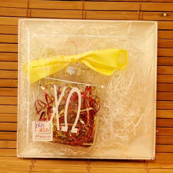 Chi Omega Glass Ornament