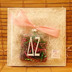 Delta Zeta Glass Ornament