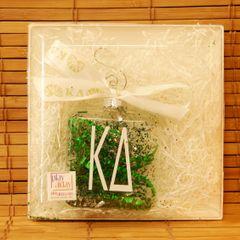 Kappa Delta Glass Ornament