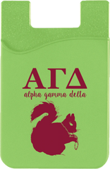 Alpha Gamma Delta Logo Cell Phone Pocket