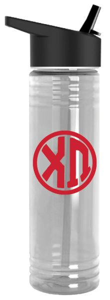 Chi Omega Plastic Water Bottle