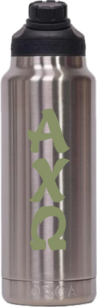 Alpha Chi Omega Stainless Steel 34 oz. Water Bottle