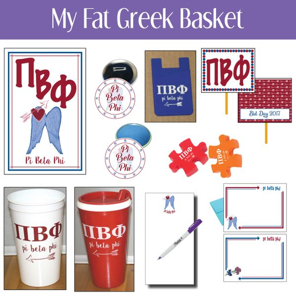 My Fat Greek Basket • Pi Beta Phi