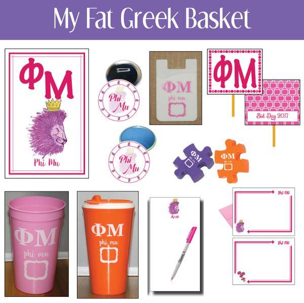 My Fat Greek Basket • Phi Mu