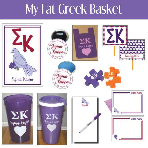 My Fat Greek Basket • Sigma Kappa