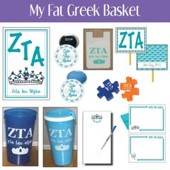 My Fat Greek Basket • Zeta Tau Alpha